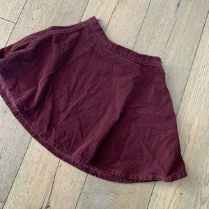american apparel wine-red corduroy mini skirt XS